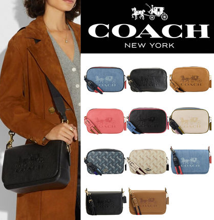 Coach Casual Style Vanity Bags Plain Leather Party Style
