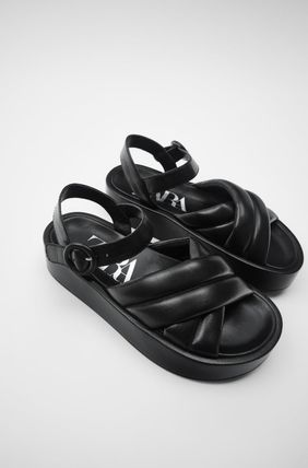 ZARA Platform Rubber Sole Casual Style Leather