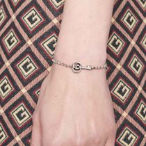 GUCCI Casual Style Unisex Street Style Chain Silver Bracelets