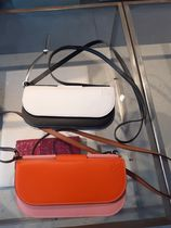 LOEWE GATE Casual Style Plain Leather Logo Shoulder Bags