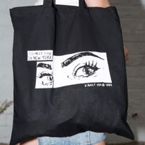 Brandy Melville Casual Style Street Style A4 Office Style Logo Totes