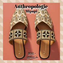 Anthropologie Casual Style Blended Fabrics Party Style Elegant Style Mules