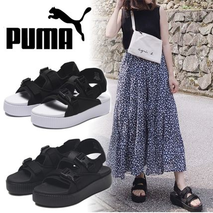 Platform Casual Style Street Style Plain Sport Sandals