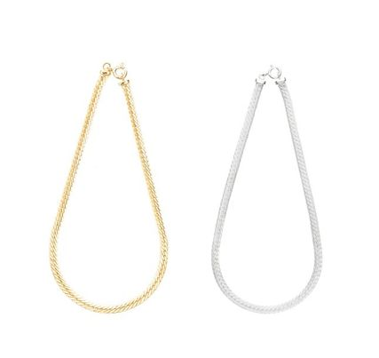 CINCO Casual Style Chain Silver Elegant Style Anklets