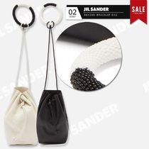 Jil Sander Casual Style Plain Leather Party Style Purses With Jewels