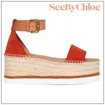See by Chloe Open Toe Platform Round Toe Casual Style Suede