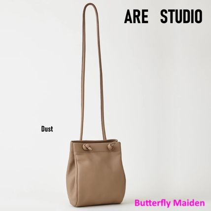 Crossbody Logo Casual Style Plain Leather Shoulder Bags
