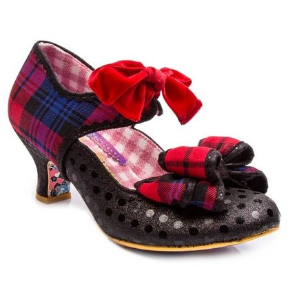 Tartan Dots Round Toe Casual Style Blended Fabrics