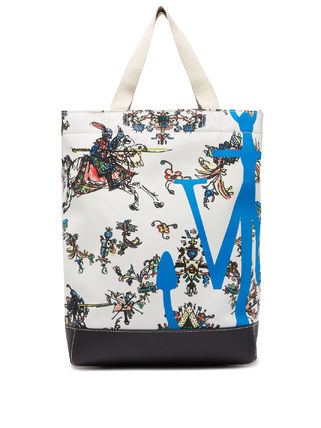 Casual Style Canvas 2WAY Leather Elegant Style Totes