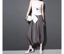 Casual Style Street Style Plain Long Oversized Culottes