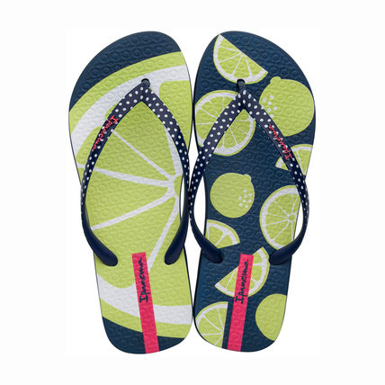 Stripes Tropical Patterns Casual Style Flip Flops