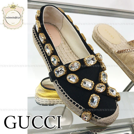 GUCCI Platform Casual Style Espadrille Shoes