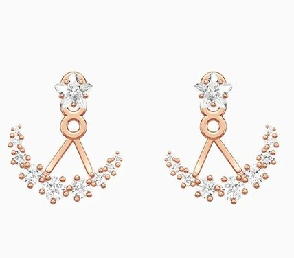 Star Casual Style Studded Party Style Elegant Style Earrings