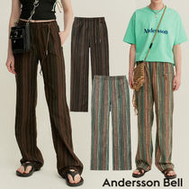 ANDERSSON BELL Printed Pants Stripes Unisex Street Style Plain Oversized
