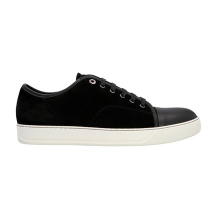 Suede Plain Leather Sneakers