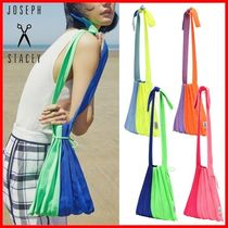 JOSEPH&STACEY Casual Style Unisex Logo Shoulder Bags