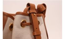 ndearose Shoulder Bags Casual Style Canvas 2WAY Plain Leather Crossbody 6