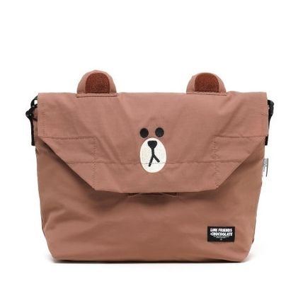 Casual Style Unisex Collaboration Shoulder Bags