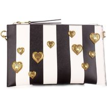VERSACE JEANS Stripes Heart Casual Style Blended Fabrics Studded 2WAY