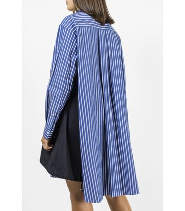 Stripes Long Sleeves Cotton Long Office Style