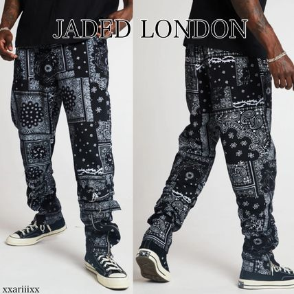 Printed Pants Paisley Street Style Cotton Patterned Pants