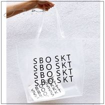 SABO SKIRT Casual Style Crystal Clear Bags PVC Clothing Logo Totes