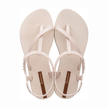 Casual Style Flip Flops PVC Clothing Flat Sandals