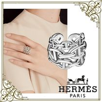 HERMES Chaine dAncre Casual Style Party Style Silver Elegant Style Fine