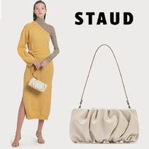 STAUD Suede 2WAY Plain Leather Party Style Elegant Style Handbags