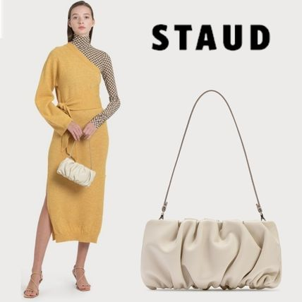 Suede 2WAY Plain Leather Party Style Elegant Style Handbags