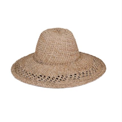 lack of color Unisex Handmade Straw Hats