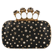 alexander mcqueen Leather Party Style Elegant Style Clutches