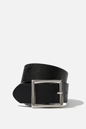 Casual Style Plain Belts