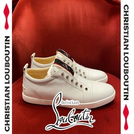 Christian Louboutin Studded Street Style Leather Logo Loafers & Slip-ons