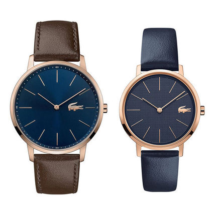 LACOSTE Casual Style Unisex Round Party Style Quartz Watches