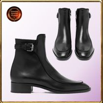 Christian Louboutin Casual Style Leather Elegant Style Mid Heel Boots