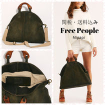 Free People Casual Style A4 2WAY Plain Leather Totes