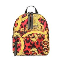 VERSACE JEANS Casual Style Elegant Style Logo Backpacks