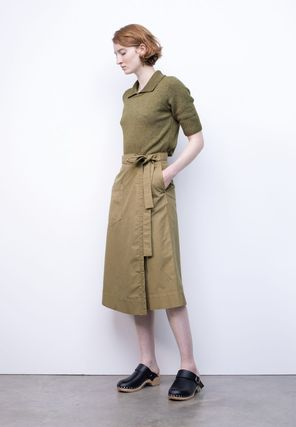 Casual Style Plain Cotton Party Style Elegant Style Skirts