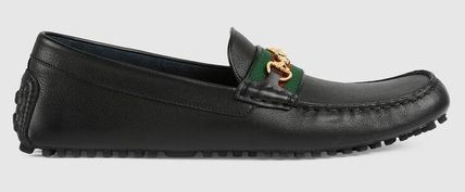 GUCCI Driving Shoes Plain U Tips Loafers & Slip-ons