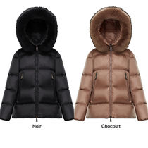 MONCLER Unisex Plain Medium Logo Down Jackets