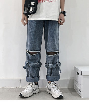 Denim Plain Joggers Jeans