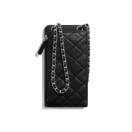 CHANEL Casual Style Lambskin 2WAY Chain Leather Party Style
