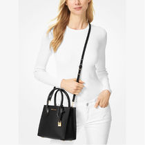 Michael Kors MERCER Casual Style 2WAY Plain Leather Office Style Elegant Style