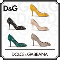 Dolce & Gabbana Blended Fabrics Pin Heels Party Style With Jewels
