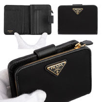 PRADA Unisex Folding Wallet Logo Folding Wallets