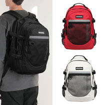 NEIKIDNIS Casual Style Unisex Street Style A4 Plain Logo Backpacks