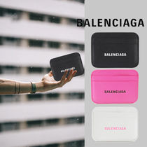 BALENCIAGA EVERYDAY TOTE Unisex Street Style Plain Leather Small Wallet Logo