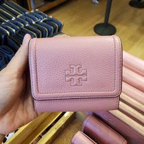 Tory Burch Plain Leather Small Wallet Logo Accessories