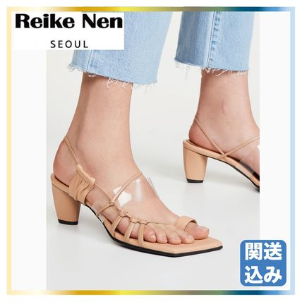 Open Toe Casual Style Leather Footbed Sandals Flat Sandals